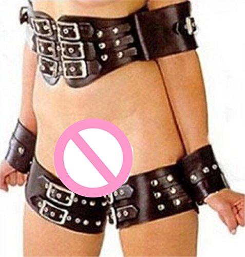 Thigh and Wrist Cuff SM Fetish Adjustable Restraint System Body Harness Set J5452#D1 by Sex Toys Bondage Kit