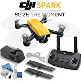 DJI Spark Mini Drone with Remote Controller Bundle (Sunrise Yellow)