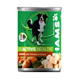 IAMS Proactive Health Dog Food, Chunks with Chicken in Gravy, 12.3-Ounce Cans (Pack of 12), My Pet Supplies