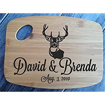 Deer Country Cutting Board Bamboo Personalized