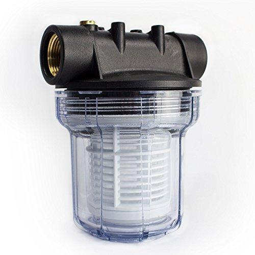 AWM 1L Vorfilter 3000 l/h Wasserfilter Hauswasserwerk Pumpenfilter max. 4 bar, 1