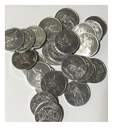 Set of 10 Assorted Silver Metal Slammers for Pog or Milk Cap Game