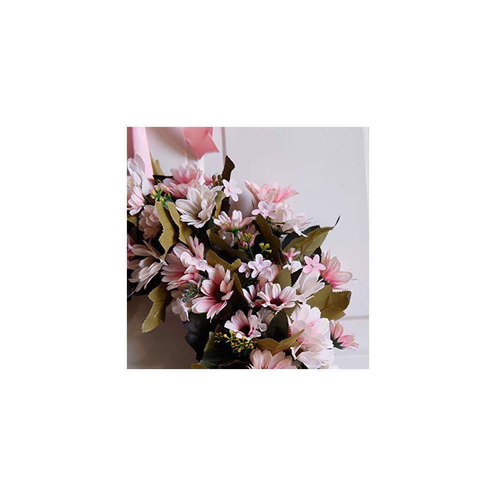 Shouyi-Artificial-Daisy-Flower-Wreaths-Flowers-Garland-for-Front-Door-Wall-Home-DIY-Garden-Office-Wedding-Decor
