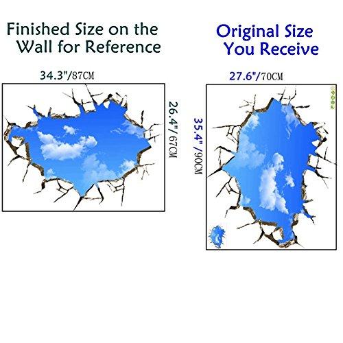 u-shark-3d-self-adhesive-removable-break-through-the-wall-vinyl-wall-stickers-murals-art-decals-decorator-blue-sky276-x-354-70cm90cm