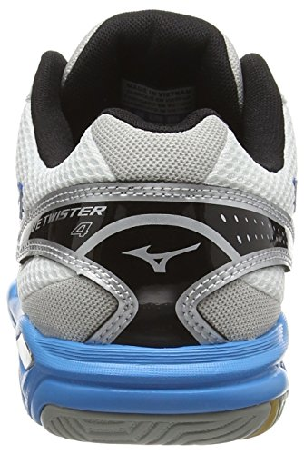 Mizuno Wave Twister 4 (w), Chaussures de Volleyball Femme Blanc (White/Diva Blue/Silver)