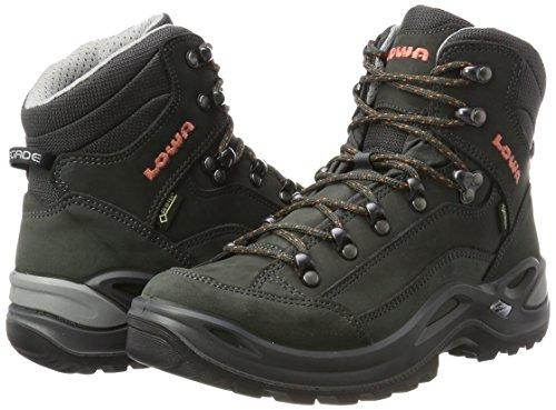 Lowa Renegade Gtx Mid Ws, Stivali da Escursionismo Donna Grigio (Anthrazit/Mandarine 9709)