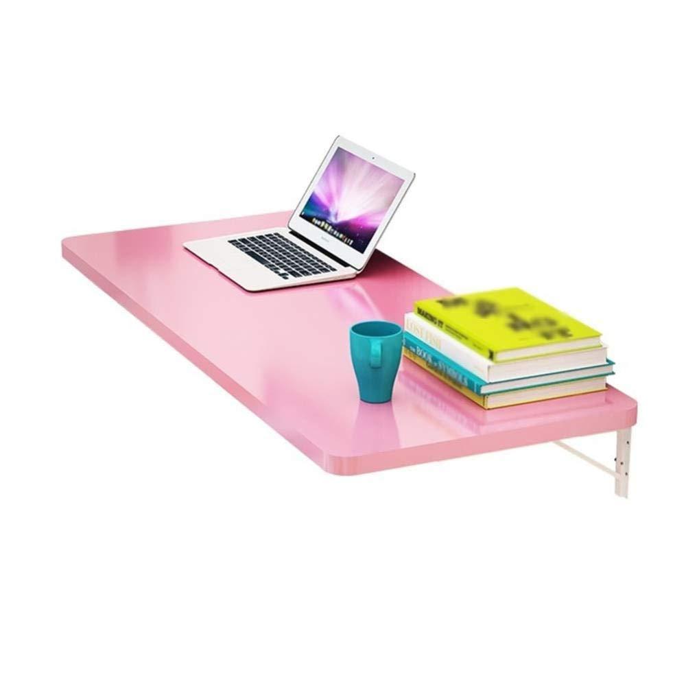 AZW Wandklapptisch, Laptop-Schreibtisch, Tisch, Küchenplatte Rosa 100 × 40 cm