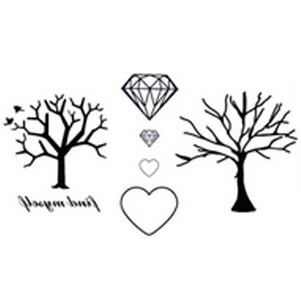 10 Pcs Personalized Waterproof Diamand Tree Temporary Tattoo Stickers
