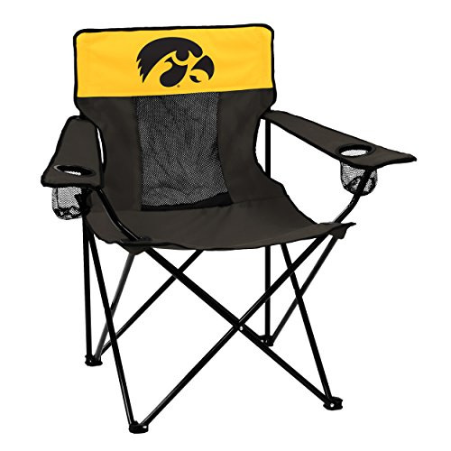 NCAA Iowa Hawkeyes Elite Chair by Logo Brands Iowa Hawkeyes Tailgate