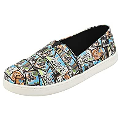 TOMS Star Wars Ewok Print Youth Canvas Slip-on Multi-Color 10014513 Multi Size: 1 Little Kid