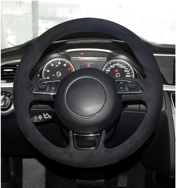 Jnsmqc Auto Handgenäht Schwarz Wildleder Auto Lenkradbezug Für Audi A1 8x A3 8v Sportback A4 B8 Avant A5 8t A6 C7 A7 G8 A8 D4 Q3 8u Q5 Sport Freizeit