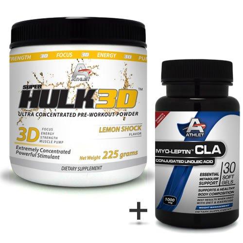 Athlet savoir Hulk3d pré-séance d'entraînement de poudre de citron 225 Gr Shock-f ocus sans CLA
