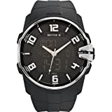 Hector H - 665370 - Montre Homme - Quartz Analogique - Cadran Noir - Bracelet Plastique Noir