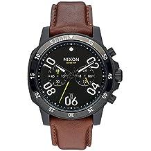 Nixon A940712 Men's Ranger Chrono Black Dial Brown Leather Strap Watch