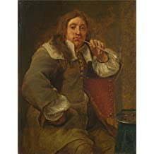 'Gonzales Coques Smell (Portrait of Lucas Fayd'herbe) ' oil painting, 30 x 39 inch / 76 x 99 cm ,printed on high quality polyster Canvas ,this Beautiful Art Decorative Prints on Canvas is perfectly suitalbe for dining Room artwork and Home artwork and Gifts