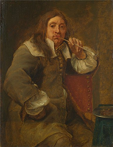 [The Polyster Canvas Of Oil Painting 'Gonzales Coques Smell (Portrait Of Lucas Fayd'herbe) ' ,size: 16 X 21 Inch / 41 X 53 Cm ,this Beautiful Art Decorative Prints On Canvas Is Fit For Gym Decor And Home Artwork And] (Lucas Mother 3 Costume)