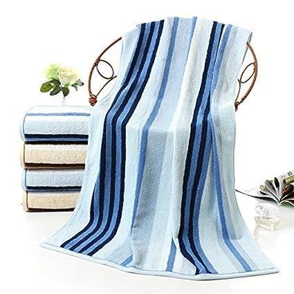 mmynl Pure algodón toalla de baño adulto macho parejas Presidente toalla de baño azul 140 x