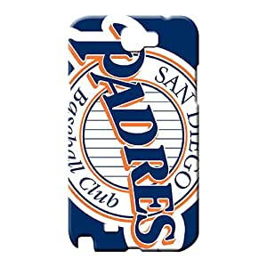 samsung note 2 Shatterproof High-end phone Hard Cases With Fashion Design mobile phone back case san diego padres mlb baseball