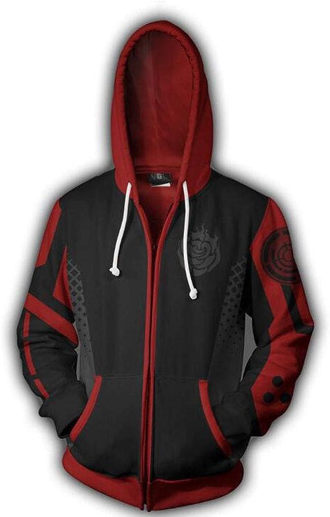 Anime RWBY Ruby Rose Cosplay Costume Pullover Hoodie Sweatshirt Zip Coat Jacket