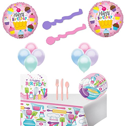 Little Chef Birthday Party Supply And Balloon Decoration Kit