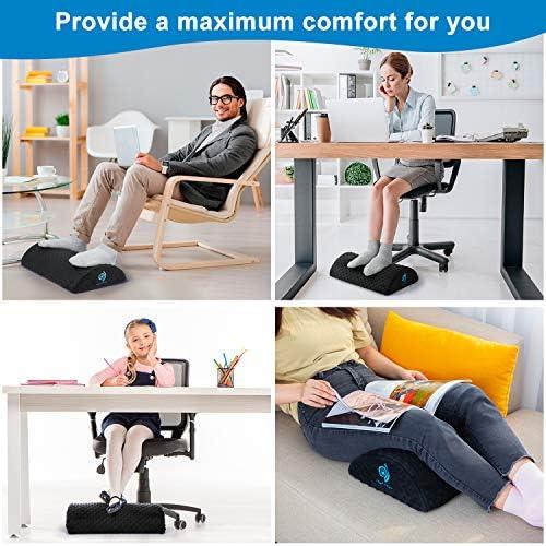 Liesun Poggiapiedi sotto la scrivania Cuscino ergonomico per poggiapiedi in Spugna ad Alta densit/à