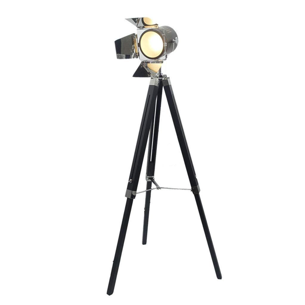 フロアスタンドランプ レトロフロアランプ照明器具 - 写真フロアランプ - リフティングフロアランプ、リビングルームスタジオ工業用三脚フロアランプ 屋内照明 B07QJY3P6N