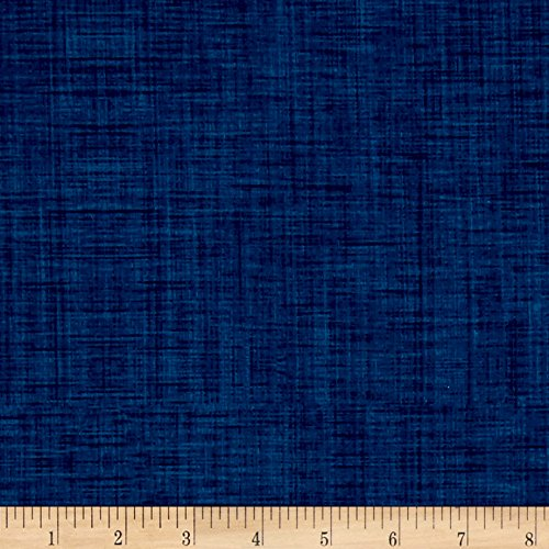 P & B Textiles Color Weave 108in Wide Backs Blue Fabric by The Yard -  00203-CWEW-B