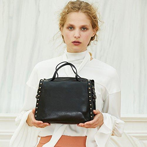 Ladies Satchel Black Top Leather Handle BOYATU Tote Shoulder Bag Crossbody Bag for Women Grey Handbag Purse gfZwqwvAOx