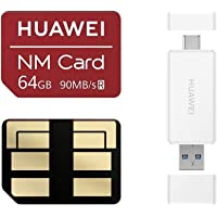 Huawei NM Card 64G 128G 256G 90MB/S Nano Memory Card Mirco SD Card Compact Flash Card, Only Suitable P30 Series and Mate20 Series, 64G (2 in 1 Reader)