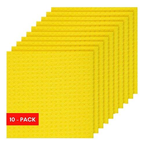 Sponge Cloth, Swedish Dishcloth, Cellulose, Reusable, 10-sponges in ()