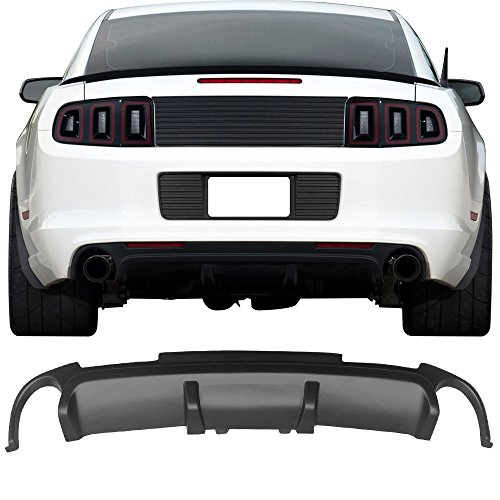 Rear Bumper Diffuser Fits 2013-2014 Ford Mustang California Special CS Boss302 PP Splitter Spoiler Valance Chin Diffuser Body kit by IKON MOTORSPORTS
