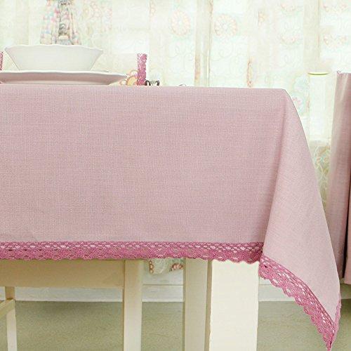 B 135180cm Imperméable nappe Nappes pastorales Toile en tissu de style Mousseline de table (4 couleurs en option) (taille facultative) pour dîner (Couleur   B, taille   135180cm)
