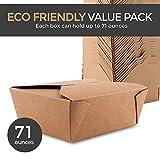 Microwaveable Kraft Brown Take Out Boxes 71 oz