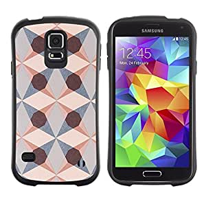 "Hypernova Slim Fit Dual Barniz Protector Caso Case Funda Para Samsung Galaxy S5 [Estructura Geométrica Patrón Arte Diamond""]"
