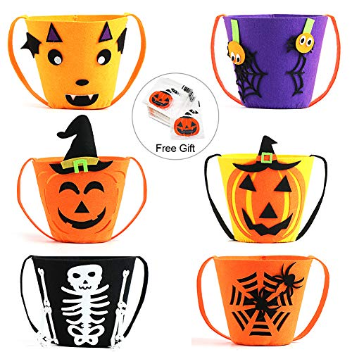 Trick or Treat Halloween Candy Buckets Baskets, PETUOL