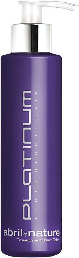 abril et nature | Mascarilla Capilar PLATINUM TONER | Tratamiento Matizador Profesional de Peluquería | Para cabellos rubios – 1L