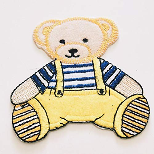 Premium Teddy Bear Costume Embroidered Sew On Patches Applique DIY Cosplay Craft Supplies Detailed Exclusive Excellent Unique Gift]()