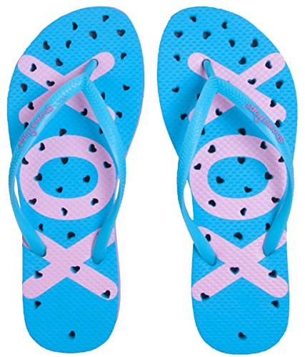 Showaflops Womens' Antimicrobial Shower & Water Sandals for Pool, Seashore, Dorm and Gym – Hearts Collection – DiZiSports Store