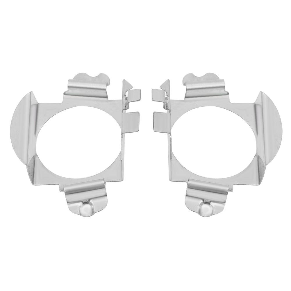 Qiilu Paire d'Ampoules H7 LED Support de Porte-Lampe pour Loquet