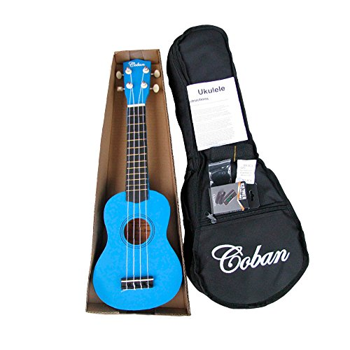 **Coban Soprano Ukulele in 4 Great Colours Slight marks Dark Blue, Purple,...