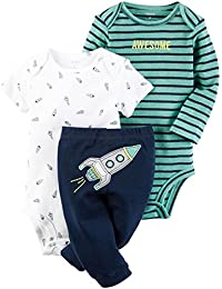"""Baby Boys' 3 Piece""""Take Me Away""""Set (Baby) - Awesome Lil Dude"""