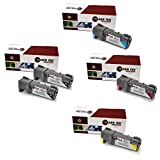 Laser Tek Services® Xerox 6500 5 Pack High Yield Compatible Replacements (2x 106R01597 Black,1x 106R01594 Cyan,1x 106R01595 Magenta,1x 106R01596 Yellow). For use in the Xerox Phaser 6500, 6500N, 6500DN, Work Centre 6505