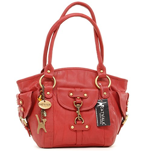 CATWALK COLLECTION - KARLIE - Bolso de mano - Cuero rojo