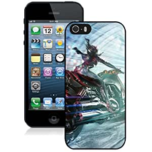 New Fashion Custom Designed Skin Case For iPhone 5s With Motorcycle Girl Phone Case Cover