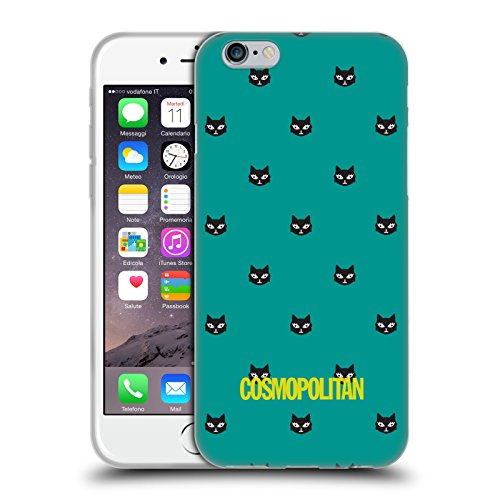 Official Cosmopolitan Teal Lovey The Cat Soft Gel Case for Apple iPhone 6 / 6s