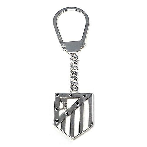 Llavero escudo Atlético de Madrid Plata de ley calado [7034 ...