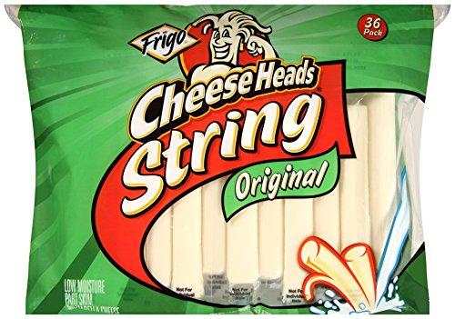 Frigo Cheese Heads, Regular String Cheese, 36 - Mozzarella Part Skim