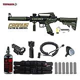 Tippmann Cronus Tactical HPA Red Dot Paintball Gun Package - Black / Olive
