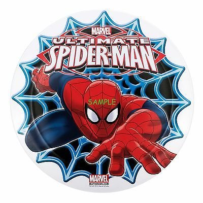 Amazon Com Sdore Spiderman 8 Round Edible Birthday Cake Topper