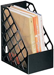 Officemate Recycled Large Magazine File, Black, 6 Each (26083)
